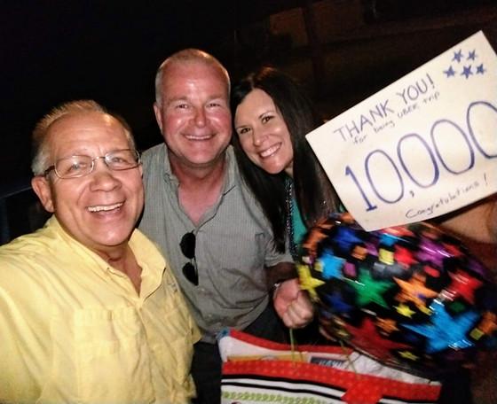 Brenda... 10,000th UBER trip!