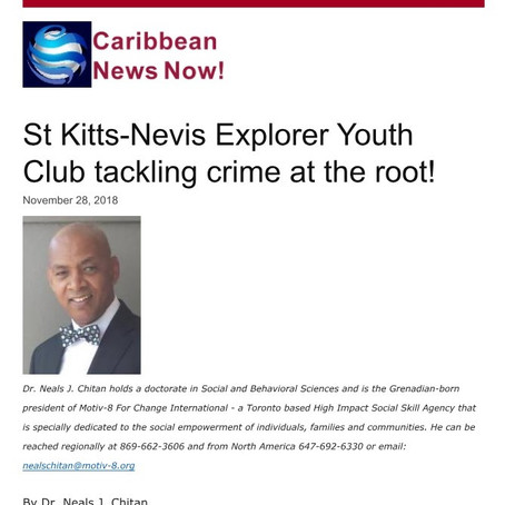 St Kitts-Nevis Explorer Youth Club tackling crime at the root!