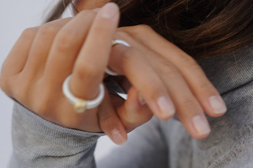 Bean Ring Silver