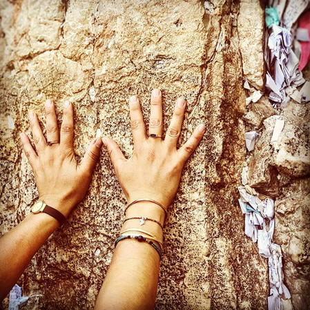 Touching the Western Wall, Kotel. OldJer