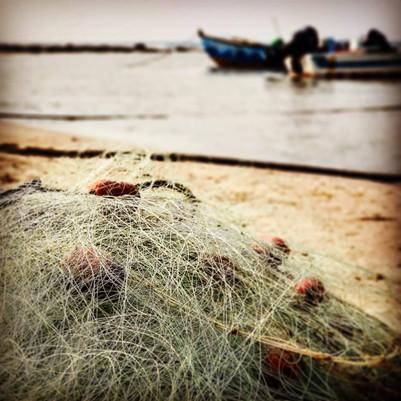 Fishing trawler, Jisr a-Zarqa, Haifa Reg