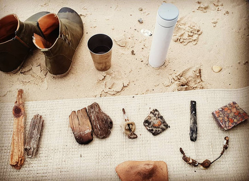 Workshop at the beach, Caesarea