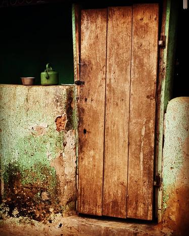 An old door in the village