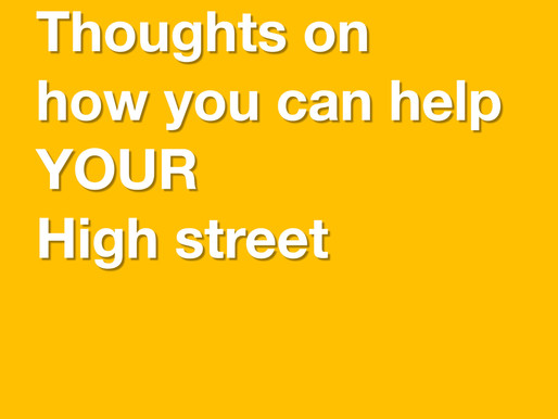 Tips on how you can help the High Street - #saveourshops