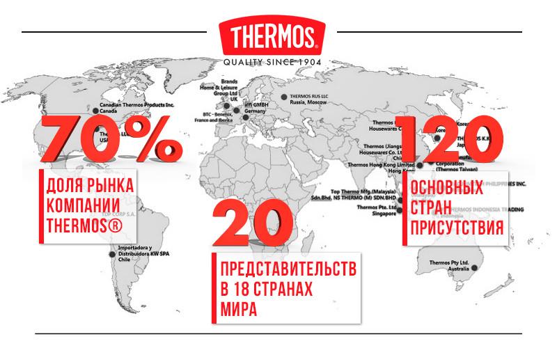 Более 120 стран доверяют THERMOS