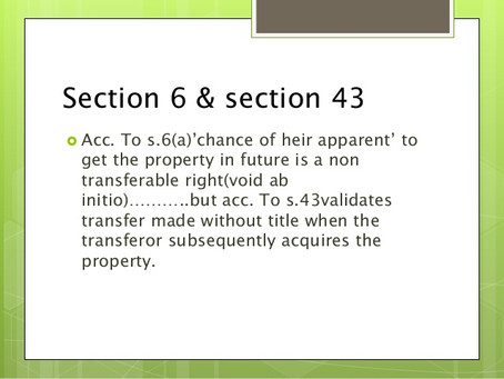 Differences of s.6 & s.43: Decided in a case law.