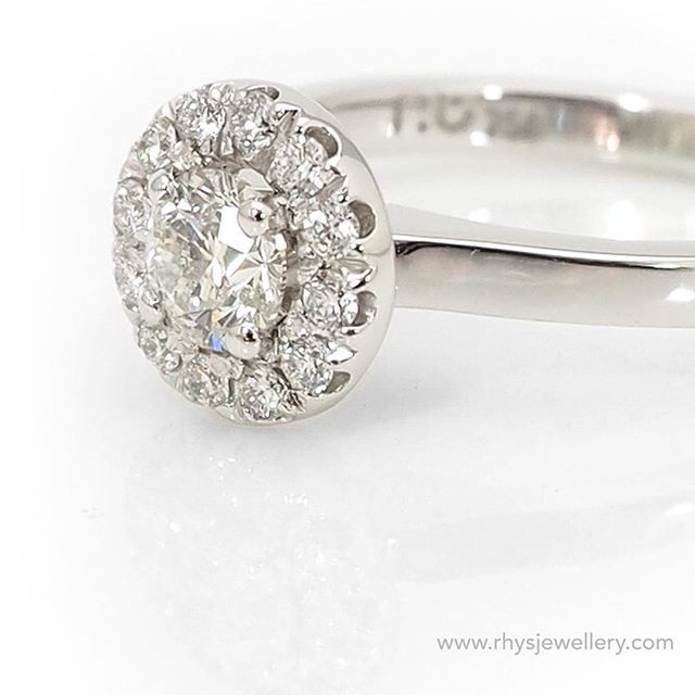 __ 18ct White Gold Engagement Ring__ A combination of ideas that came together and custom made for a