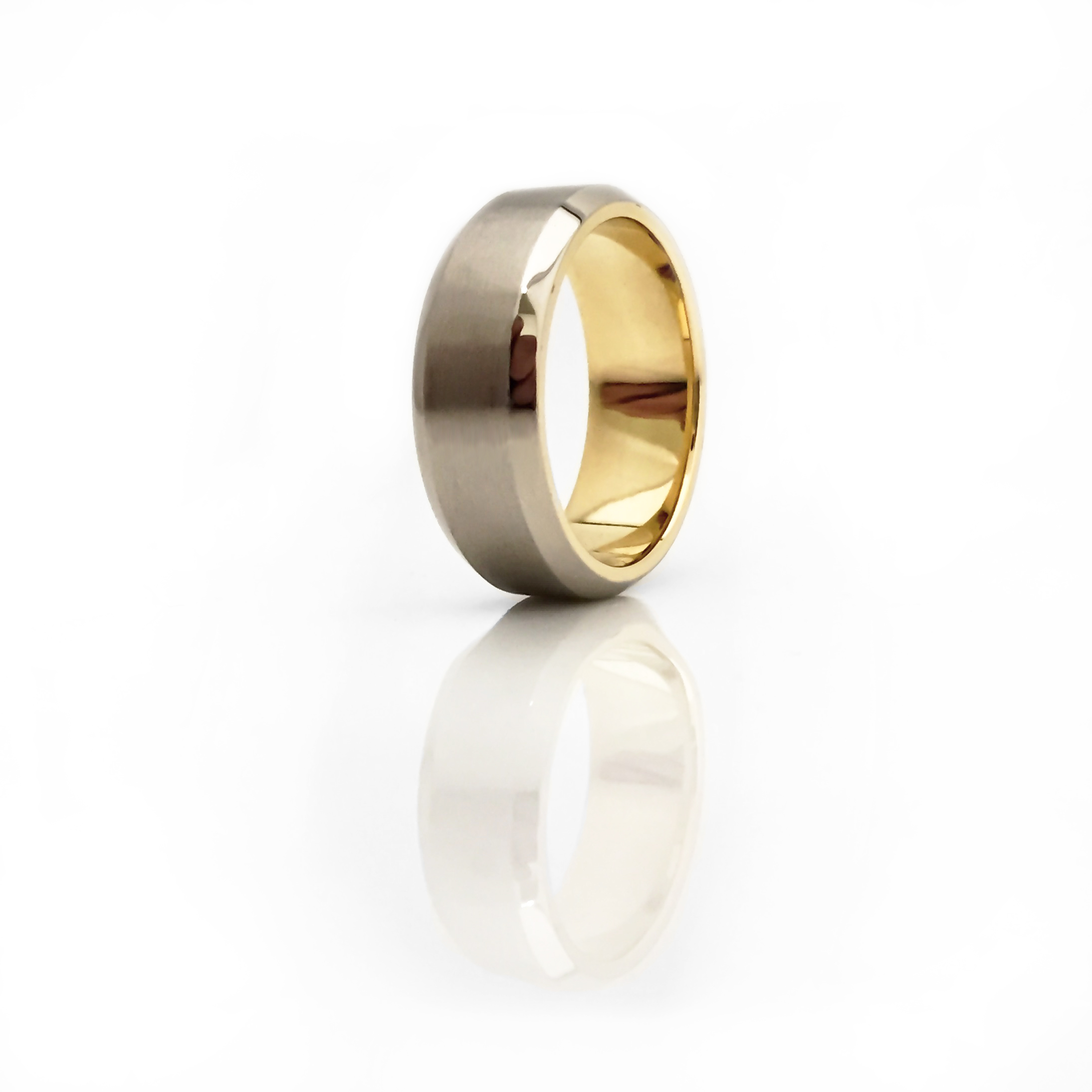 18ct White and Yellow Gold Wedder