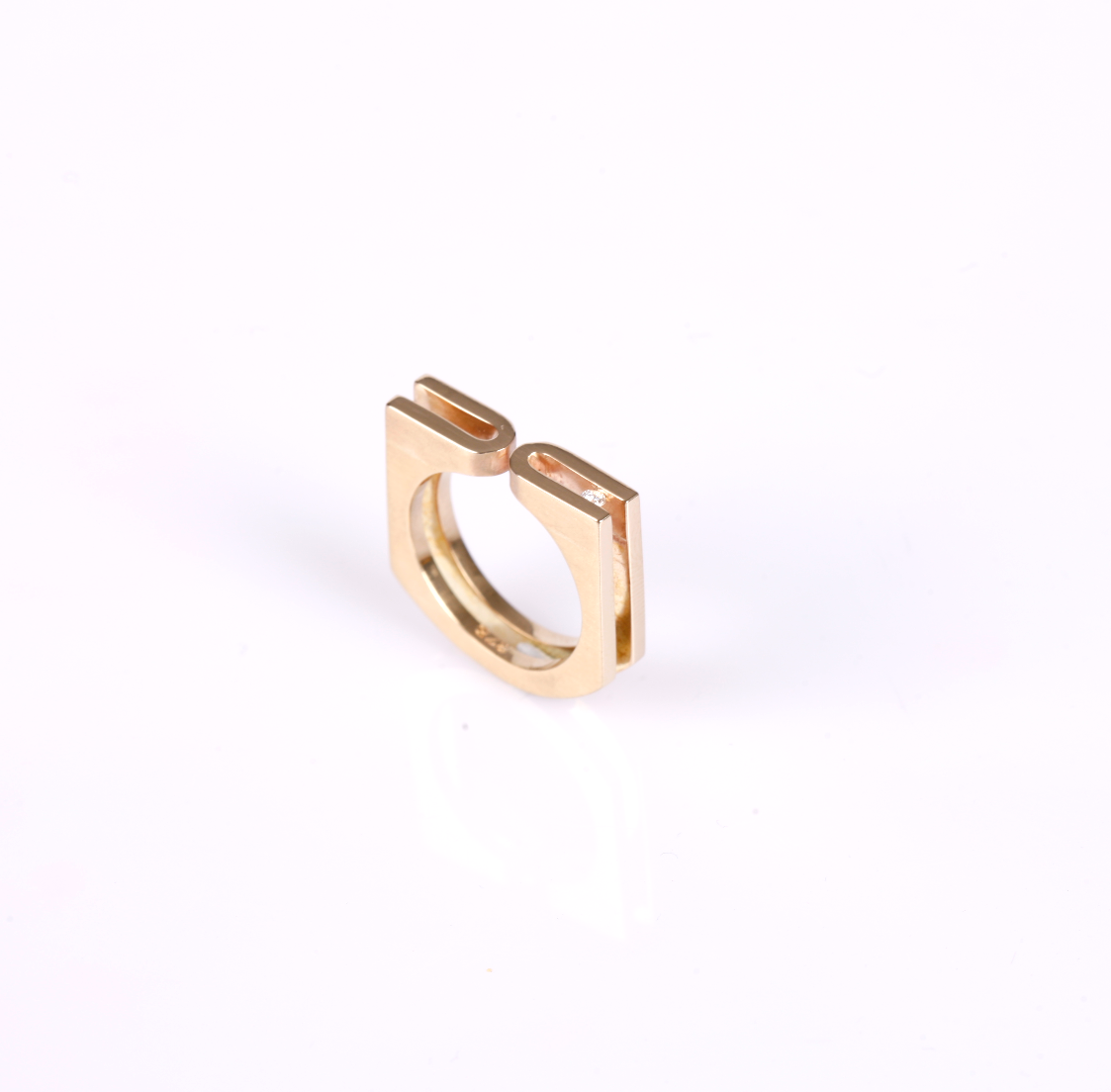 Yellow Gold Fold Ring