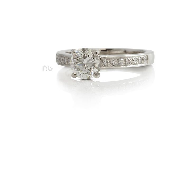 Here's a sparkler for your Friday_ _I was really happy with how this Platinum engagement ring turned
