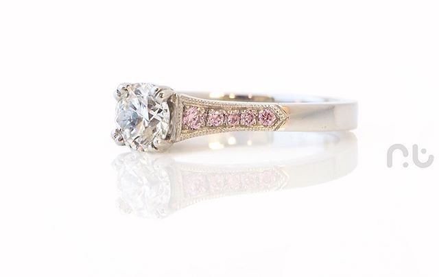 __ Argyles __ Very happy to have made this amazing engagement ring containing Australian Argyle pink