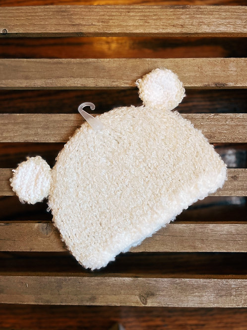 Creamy Bunnie Knit Hat