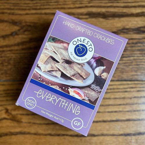 Onesto Everything Gluten Free Crackers