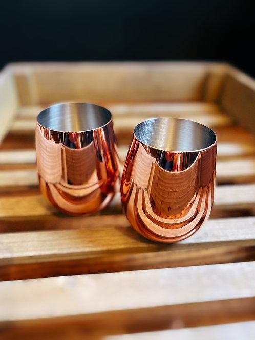 Summit Copper Stemless Wine Glasses