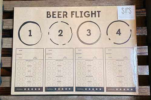 Beer Flight Placemats- 24 Pieces