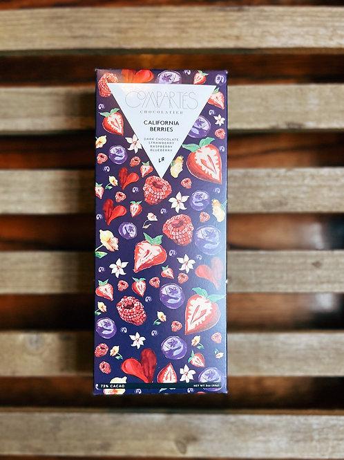 Compartes California Berries Dark Chocolate Bar