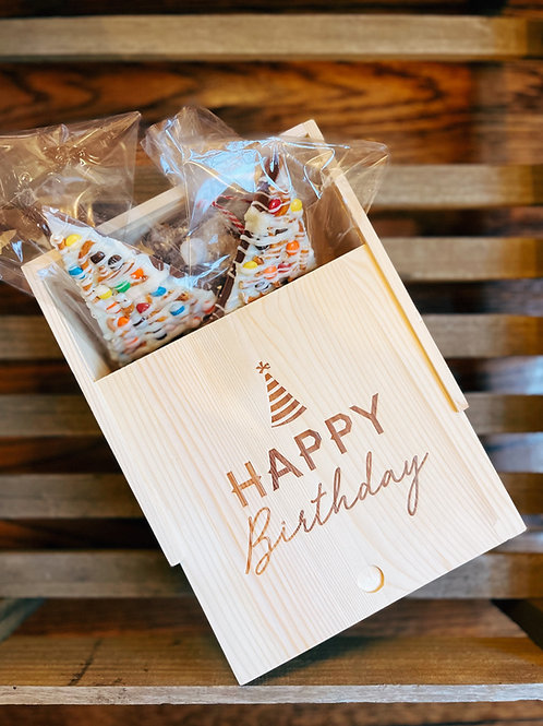 Wooden Birthday Sweets Box