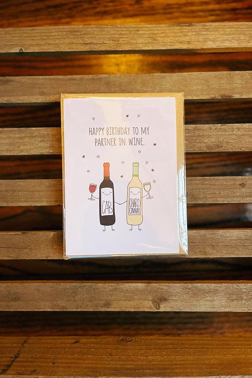 Partner In Wine Card