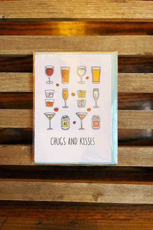 Chugs and Kisses Card