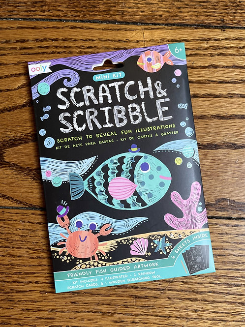 Friendly Fish Scratch and Scribble Art Kit