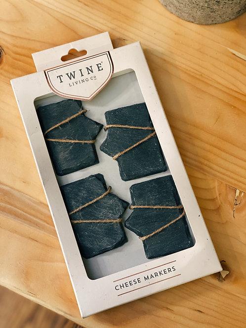 Twine Slate Cheese Markers