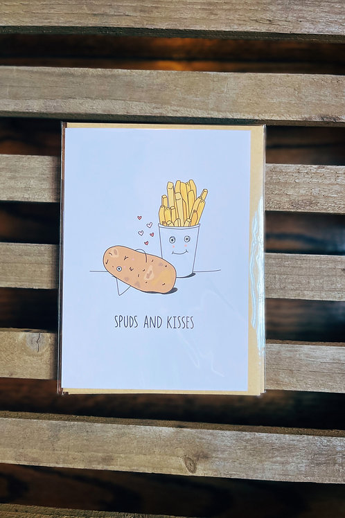 Spuds and Kisses Card