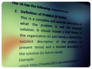 Getting that Computer Science IA started: Problem Definition