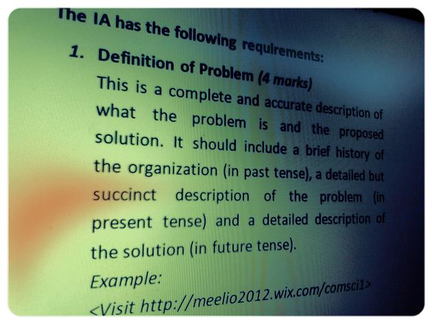 Cape Computer Science Iasba Problem Definition Computer Science
