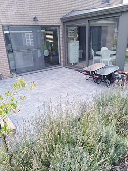 terrasse en pavé béton EBEMA