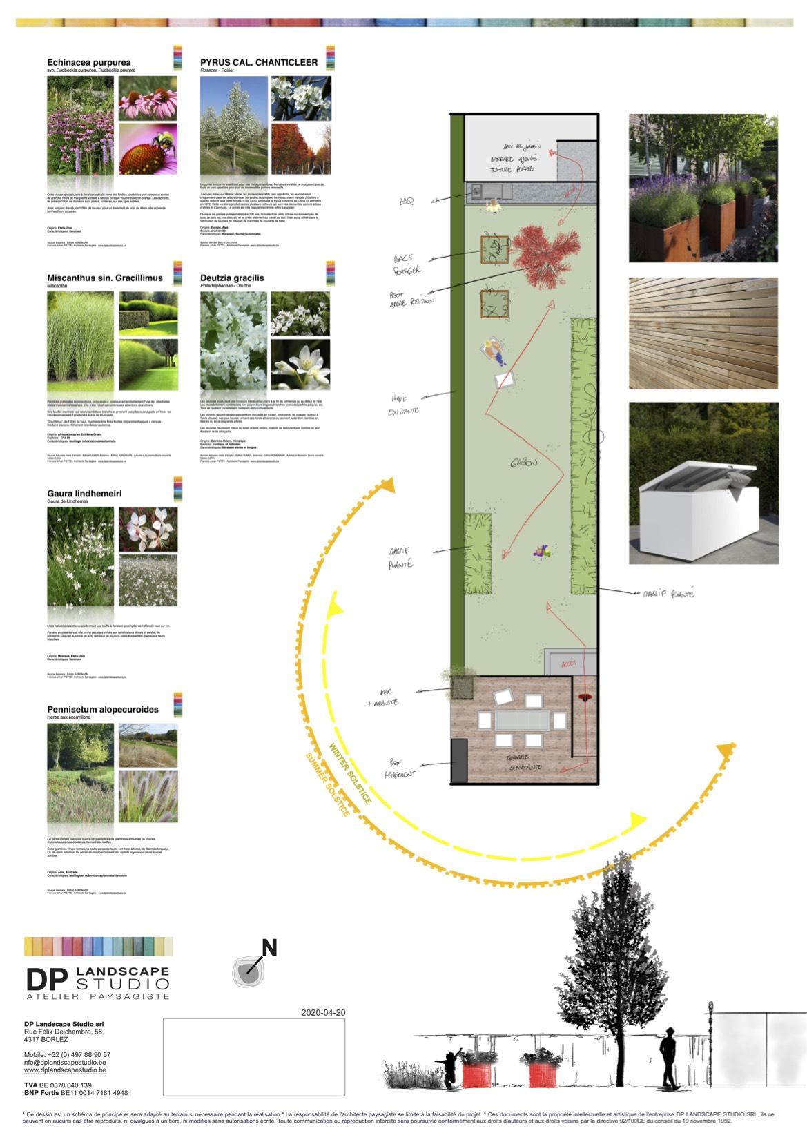 DP Landscape Studio francois piette architecte de jardins plan de jardins aménagements extérieurs ja