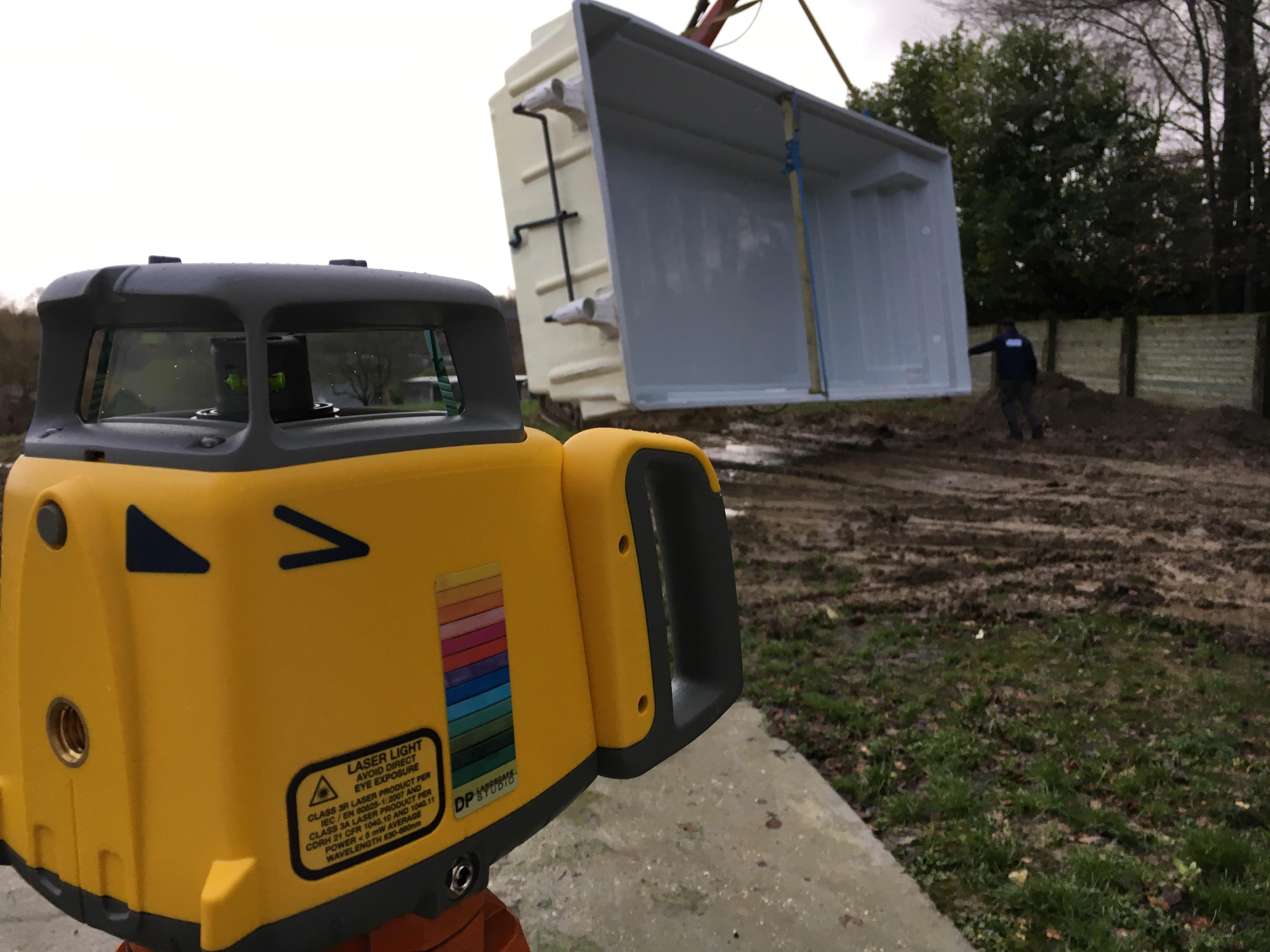 chantier a trooz, nouveau jardin