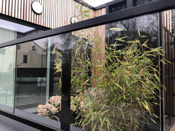 DP Landscape Studio francois piette architecte de jardins permis terrasse de ville bac acier skimmia