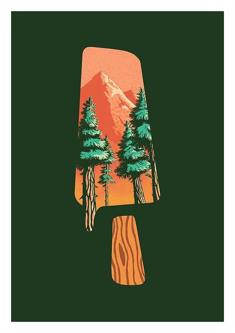 Popsicle Mountain - A4 Print