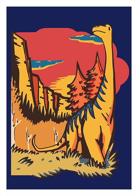 Brachiosaurus Vally - A4 Print