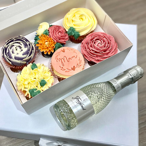 Mothers Day Cupcake & Prosecco box
