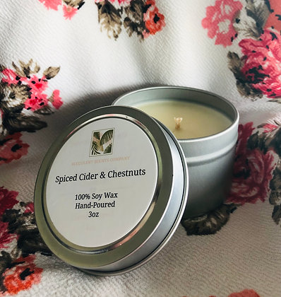3oz Spiced Cider & Chestnuts Candle