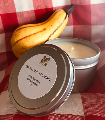 7oz Spiced Cider & Chestnuts Candle