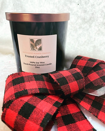 10oz Frosted Cranberry Candle