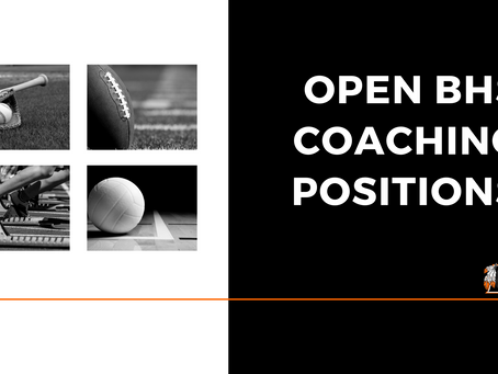 Open High School Coaching Positions
