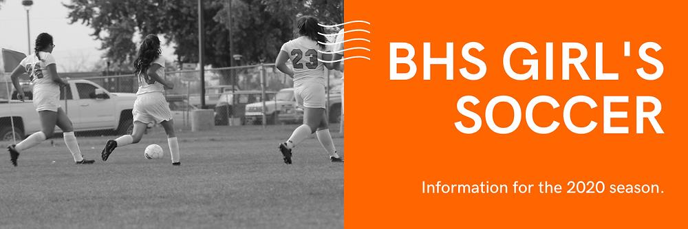 BHS Girl's Soccer Banner Image