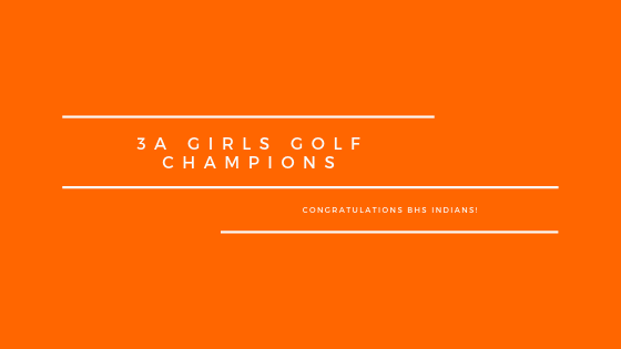 3A Girls Golf Champions: Banner