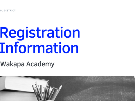 Wakapa Academy Registration   2021-22