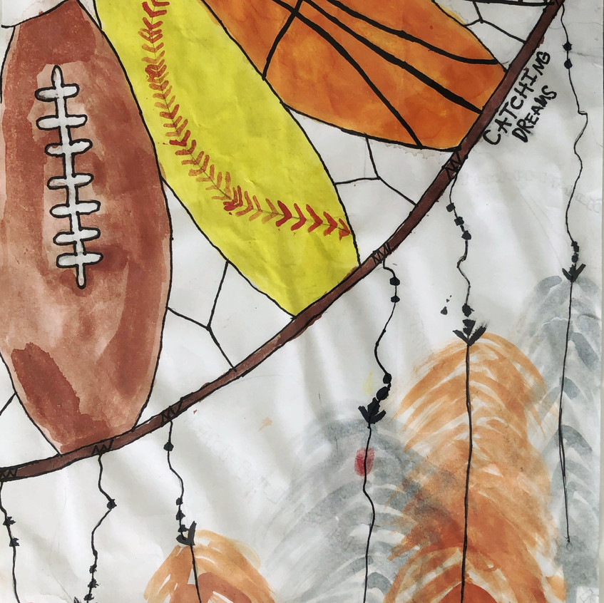 By: BMS Art Winner Giianni Faught (6th Grade)