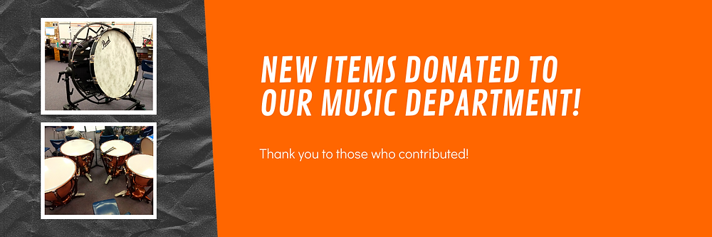 New Items Donated to Our Music Department! Thank you to those who contributed!