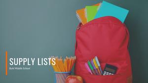 BMS | Supply Lists