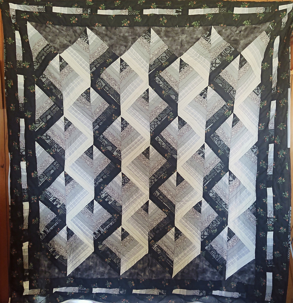 Black and white quilt for raffle.