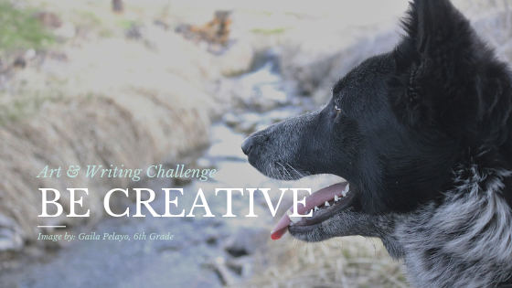 Be Creative: Banner is a picture of a dog by Gaila Pelayo.