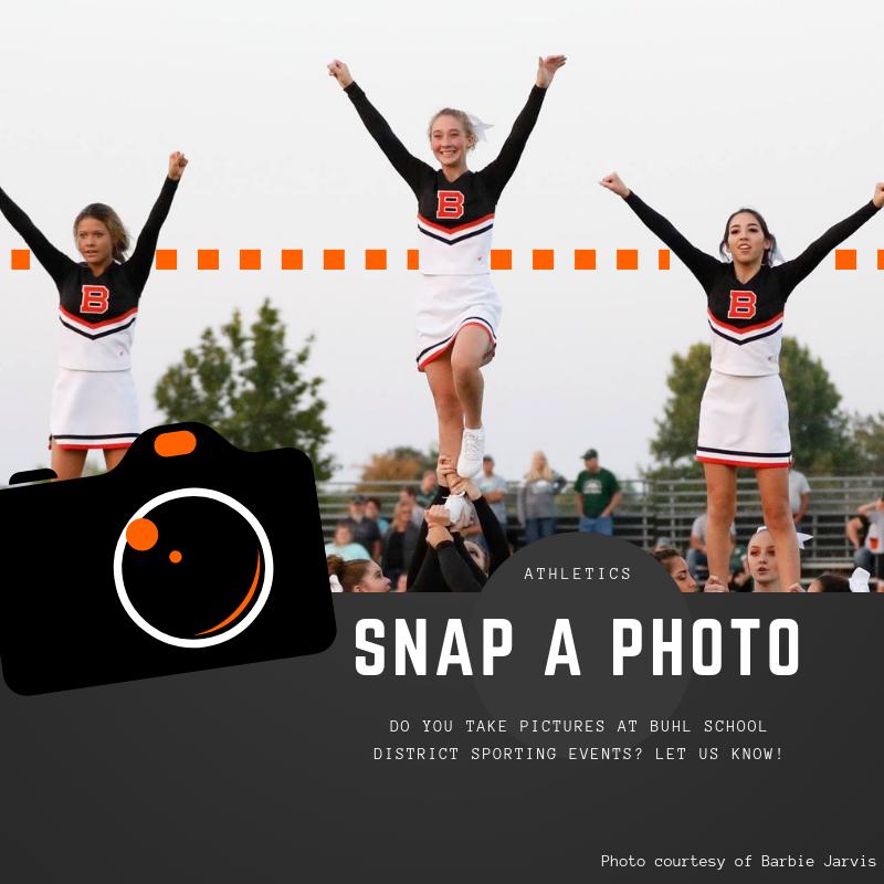 BHS Cheerleaders stunting at football game.