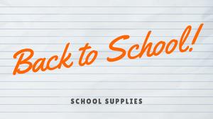 Back to School | School Supplies Banner