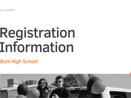 Buhl High School Registration Information 2021-22   ENG & SPA